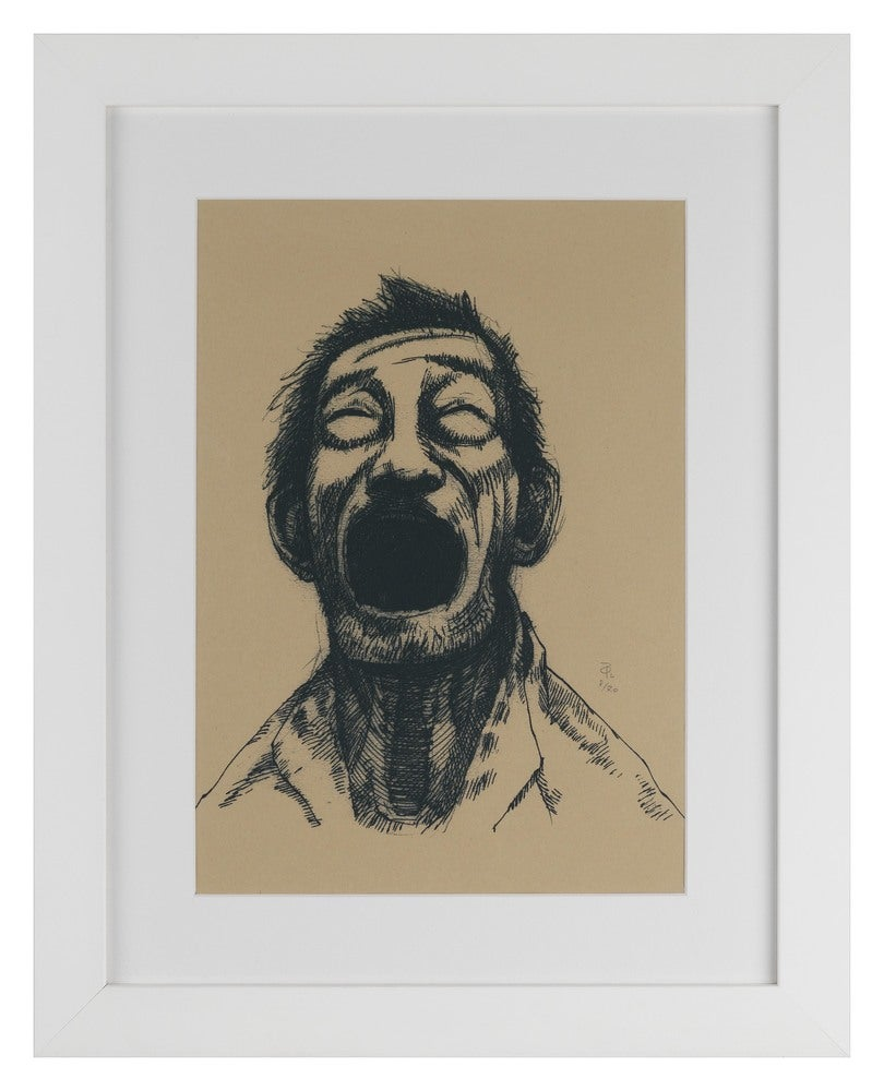 Image of Laughing Limeted Edition Screen Print