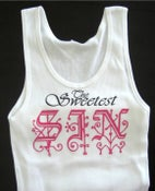 "Image of ""SIN"" TANK TOP WHITE"