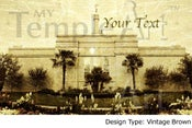 Image of Fresno California LDS Mormon Temple Art 001 - Personalized LDS Temple Art