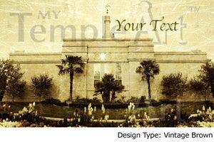 Image of Fresno California LDS Mormon Temple Art 001 - Personalized LDS Temple Art