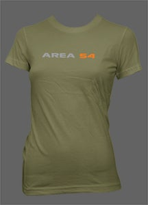 Image of Area54 Ladies Tee - Military Green