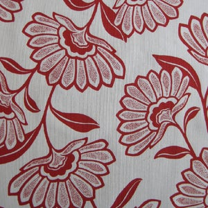 Image of Floral Noveau-Printed Fabric (Lights)