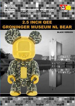 "Image of 2.5"" Groninger Museum Qee Bear - Black"