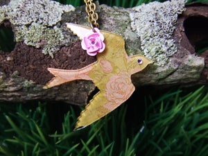 Image of Amber Bird Necklace
