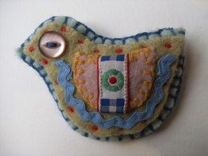 Image of lovebird brooch craft kit