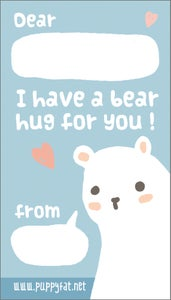 Image of Tiny 'bear hug' notecards
