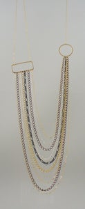 Image of TS306, Mixed Chain Geometric necklace