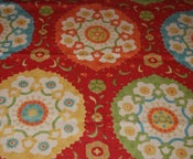 Image of FF Suzanni Linen Look High End Tribal Style Cotton Fabric Heavy HD377