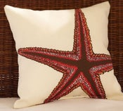 Image of FF Starfish Print Outdoor Fabric Pillow Panel Outdoor Fabric Pottery Barn S350