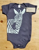 Image of Zebra One-piece (Silver on Navy)