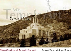 Image of Draper Utah LDS Mormon Temple Art 001 - Personalized LDS Temple Art
