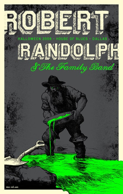 Auto Of Dallas >> Tone Ink :: Rock Posters & Art Prints — Robert Randolph & The Family Band - Halloween '09