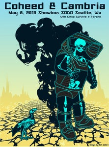 Image of Coheed & Cambria Seattle Poster 2010