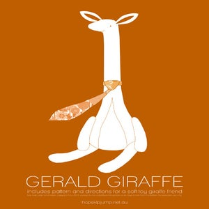 Image of PDF Sewing Pattern - Gerald Giraffe