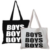 Image of BOYS BOYS BOYS<br>LOGO TOTE BAG