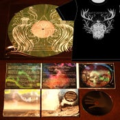 Image of Shirt, CD, and LP package
