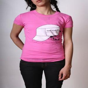 Image of Ladies Hat Tee (Pink)