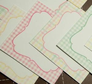Image of Summer Gingham Journaling Cards - Set of 12