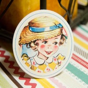 Image of Little Girls Vintage Circle Tags - Set of 12