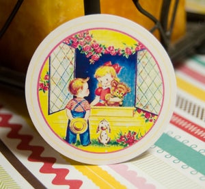 Image of Little People Vintage Circle Tags - Set of 12