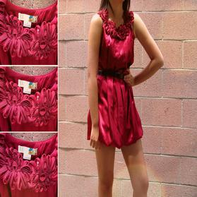Satin Dress on Stylites     Red Satin Bubble Dress