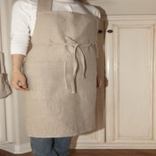 Image of Linen Full Apron- Natural