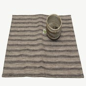 Image of Linen Placemat - Blue and White Stripe