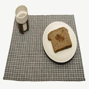 Image of Linen Placemat-Blue and White Checkered