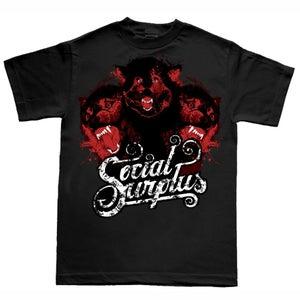 Image of Social Surplus (wolves) T-Shirt Black