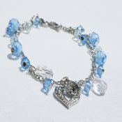 Image of Tiara Charms - Blue Hearts