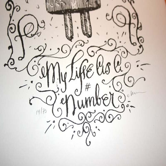 "Image of ""MY LIFE AS A NUMBER"" PRINT SET"