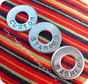 Image of Custom Stamped Washers - Set of 4