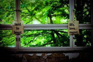 Image of life. love. regret. TOTE BAG
