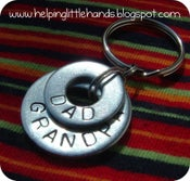Image of Custom Stamped Double Washer Key Chain
