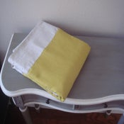Image of Linen Children's blanket/Playmat in a Tote Bag -Warm Olive