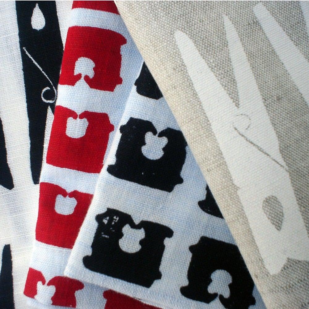 Image of Bread tag tea towel - red