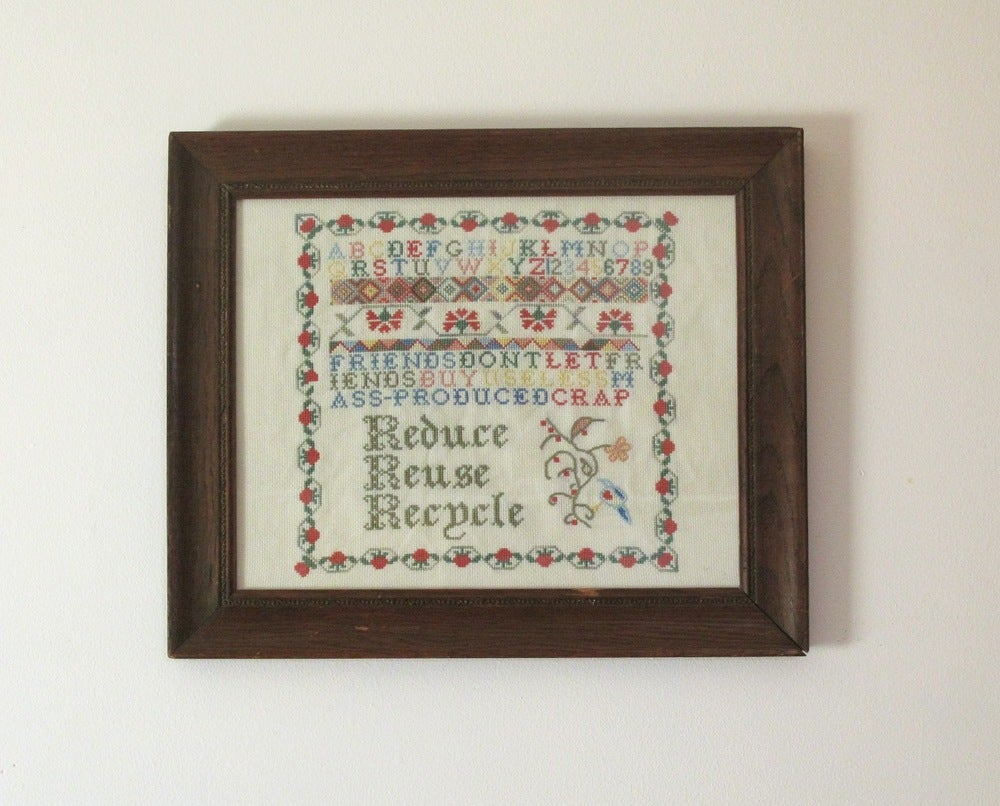 Image of A Sampler for Modern Times E-Pattern from Radical Cross Stitch