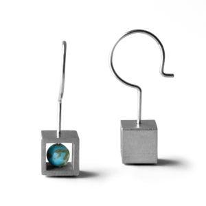 Image of Boucles d'oreilles Cube