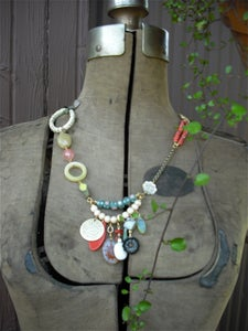 Image of Coral Mixed Bead Necklace