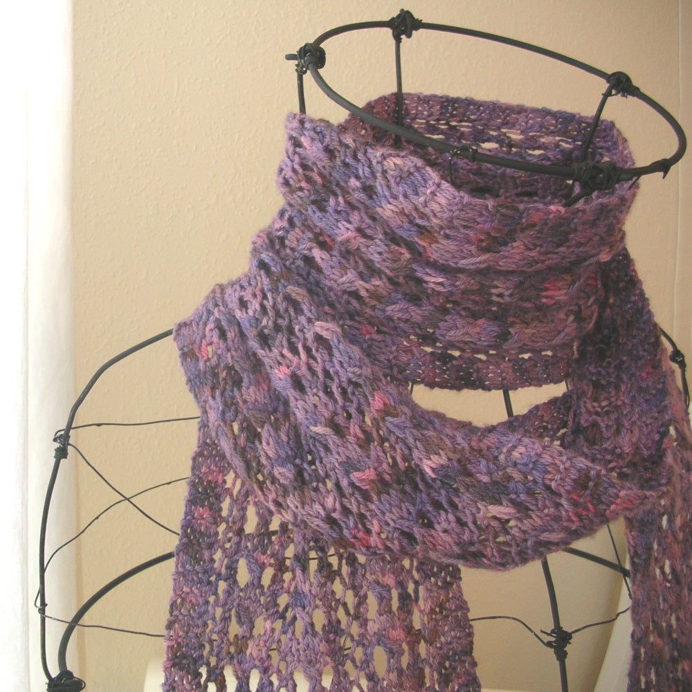 Knitting Patterns For Lace Yarn : Beehive Lace Scarf Knitting Pattern / Knit it Up Yarns