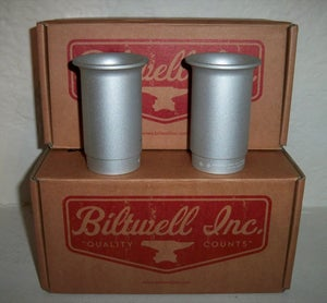 Image of Biltwell Four Aces Exhaust Tips- Silver
