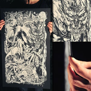 """Image of Limited """"No One Can Hear You Scream"""" Silk Screen Print"""