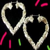 Image of Ghetto Mama Bamboo Heart Earrings