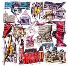 Image of The Melbourne Buildings Scarf