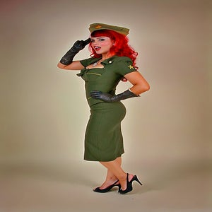 Image of Beauty On Duty (army green)