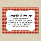 Image of {Allison} Western Picnic Wedding Invitation