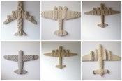 Image of custom hand-knit aeroplanes