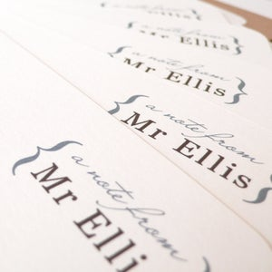 Image of Personalised teacher notecards - set of eight