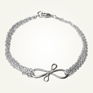 Image of Victorian Ribbon Bracelet, Sterling Silver