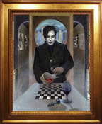 Image of A Portrait of Damon Zex - (Original Mixed-Media Oil Painting)